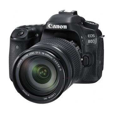 佳能Canon 数码单反相机,半画幅(约2420万像数)EOS 80D(EF-S 18-200mm f/3.5-5.6 IS)