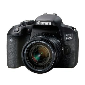 佳能Canon 数码单反相机,半画幅(约2420万像数)EOS 800D(EF-S 18-55mm f/4-5.6 IS STM 镜头)