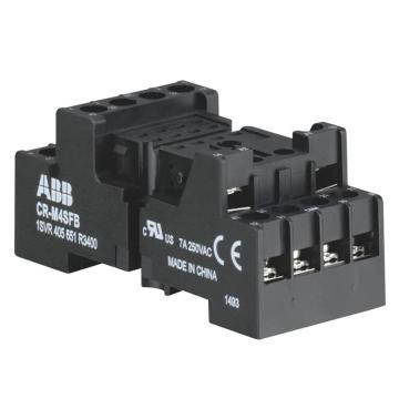 ABB 插拔式中间继电器底座,CR-M4SFB