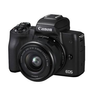 佳能Canon 数码微单相机,半画幅专微(约2410万像数)EOS M50(15-45)黑 白