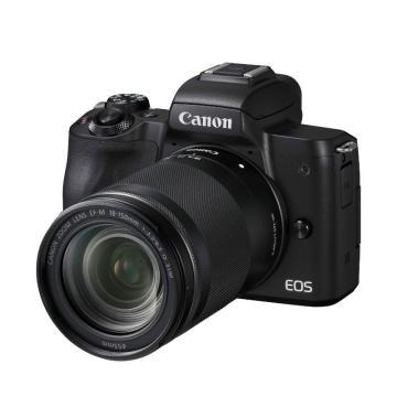 佳能Canon 数码微单相机,半画幅专微(约2410万像数)EOS M50(18-150)黑 白