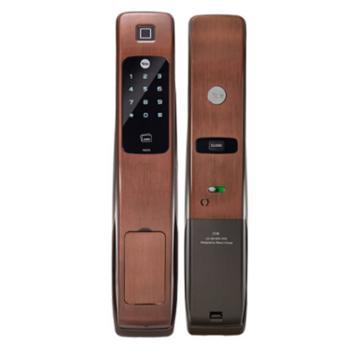 耶鲁 智能电子门锁,YMG-70,棕色,不包安装