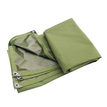 西域推荐 单面涂胶防雨帆布,2*3m,包角包边,厚度:0.76(±0.05)mm