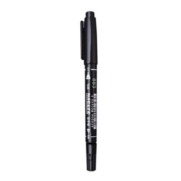 英雄 双头记号笔,黑色 883,10支/盒 单位:盒(替代:EDG272)