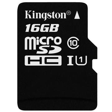 金士顿存储卡,16GBTF(MicroSD)存储卡U1C10高速升级版连续拍摄更流畅终身保固