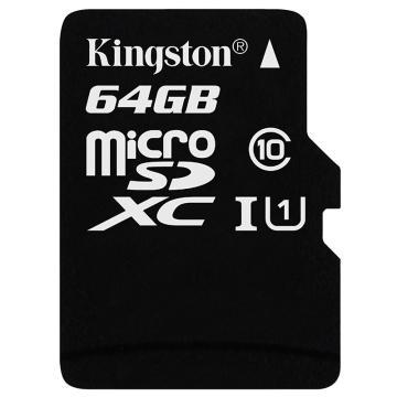金士顿存储卡,64GBTF(MicroSD)存储卡U1C10高速升级版连续拍摄更流畅终身保固