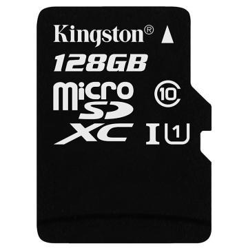 金士顿存储卡,128GBTF(MicroSD)存储卡U1C10高速升级版连续拍摄更流畅终身保固