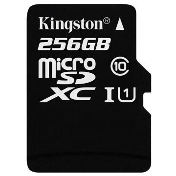 金士顿存储卡,256GBTF(MicroSD)存储卡U1C10高速升级版连续拍摄更流畅终身保固