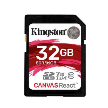 金士顿存储卡,32GBSD存储卡U3C10A1V30极速版读速100MB/s4K高品质视频拍摄终身保固