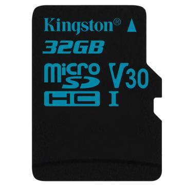 金士顿存储卡,32GBTF(MicroSD)存储卡U3C10V30专业版读速90MB/s支持4K终身保固