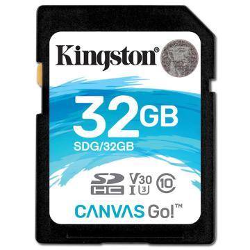 金士顿存储卡,32GBSD存储卡U3C10V30专业版读速90MB/s写速45MB/s支持4K终身保固