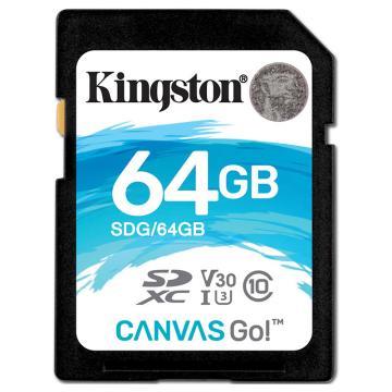 金士顿存储卡,64GBSD存储卡U3C10V30专业版读速90MB/s写速45MB/s支持4K终身保固