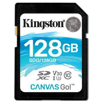 金士顿存储卡,128GBSD存储卡U3C10V30专业版读速90MB/s写速45MB/S支持4K终身保固