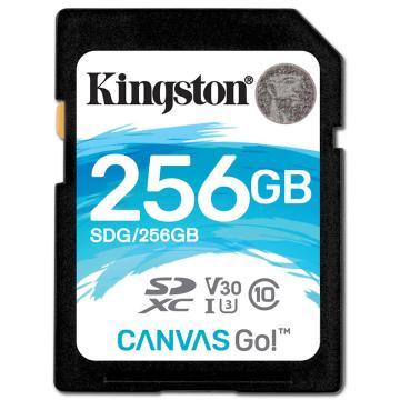 金士顿存储卡,256GBSD存储卡U3C10V304K专业版读速90MB/s写速45MB/s高品质拍摄终身保固
