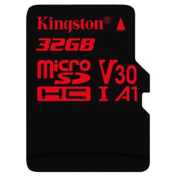 金士顿存储卡,32GBTF(MicroSD)存储卡U3C10A1V304K极速版读速100MB/sAPP运行更流畅