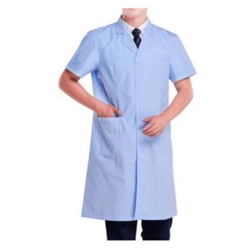 实验室大褂,蓝色,涤棉,短袖,XL(同系列10件起订)