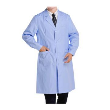 实验室大褂,蓝色,涤棉,长袖,L(同系列10件起订)