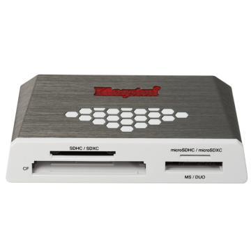 金士顿读卡器,USB3.0High-SpeedMediaReader多功能读卡器(FCR-HS4)