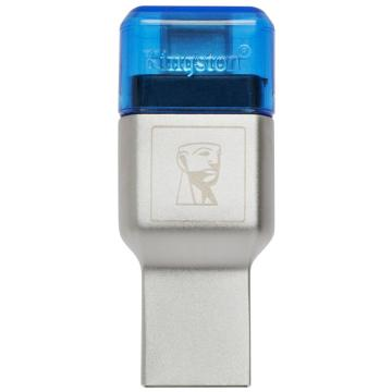 金士顿读卡器,USB3.1TF(MicroSD)双接口读卡器(FCR-ML3C)