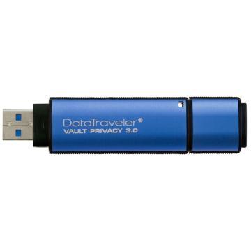 金士顿U盘,8GUSB3.0U盘DTVP30256位AES专业硬件金属加密双重数据保护