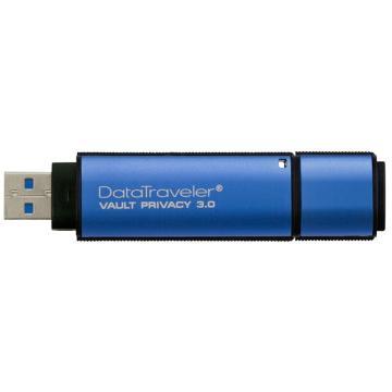 金士顿U盘,16GUSB3.0U盘DTVP30256位AES专业硬件金属加密双重数据保护