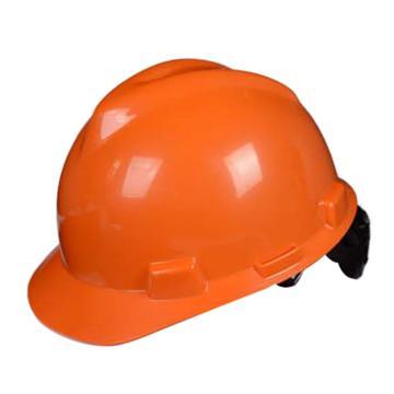 梅思安MSA 安全帽,10172891,V-Gard ABS标准型安全帽 橙色 超爱戴帽衬 D型下颏带