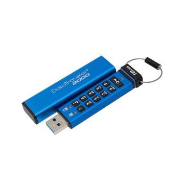 金士顿U盘,16GBUSB3.1U盘DT2000读速120MB/s256位AES硬件数字加密