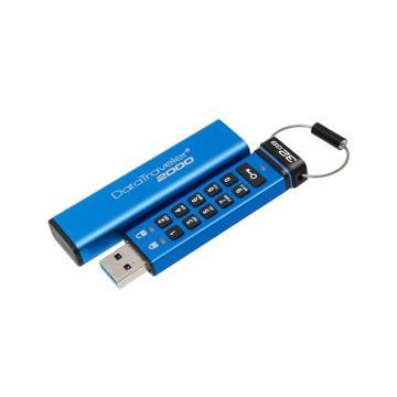 金士顿U盘,32GBUSB3.1U盘DT2000读速135MB/s256位AES硬件数字加密