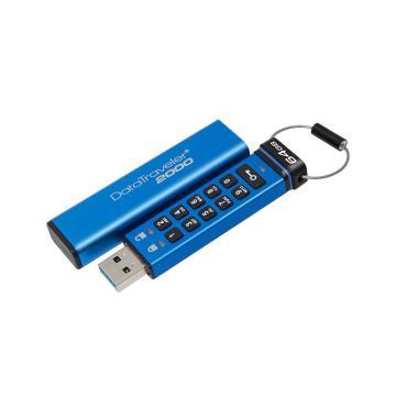 金士顿U盘,64GBUSB3.1U盘DT2000读速135MB/s256位AES硬件数字加密