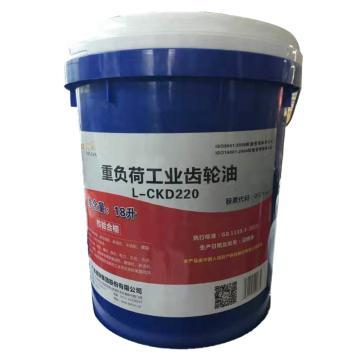 德联 齿轮油,重负荷工业齿轮油,L-CKD220,18L/桶