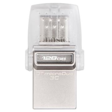 金士顿U盘,128GB Type-C USB3.1 U盘 DTDUO3C 双接口设计 支持苹果MacBook