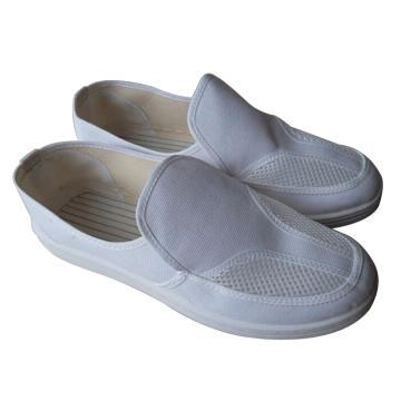 凌致防静电白色帆布双网眼鞋 PU底,LZ02001,43 同型号系列起订量10双
