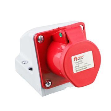 德力西DELIXI 工业明装插座 DEP2-125,DHADEP2125R,32A 5芯 415V