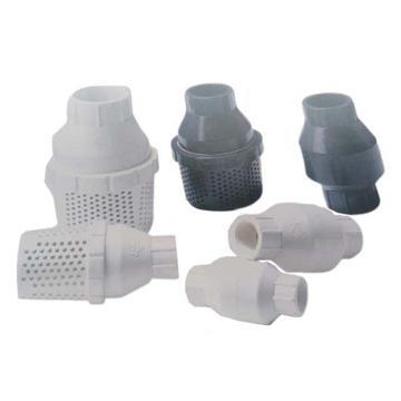 环琪 VP480型UPVC弹簧式逆止阀,承插式,密封EPDM,1/2'',DN15,DIN标准