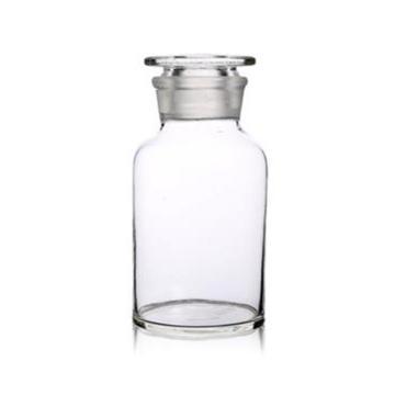 申迪 白色玻璃大口试剂瓶,250ml,瓶口磨砂,3cm,8只
