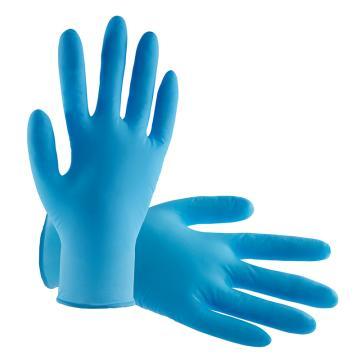 B&Z 无粉一次性手套,6203-9,蓝色丁腈,100只/盒
