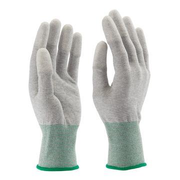 B&Z PU涂层手套,6104-7,碳纤维指尖白色涂层