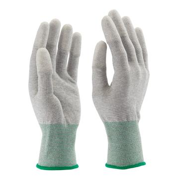 B&Z PU涂层手套,6104-8,碳纤维指尖白色涂层