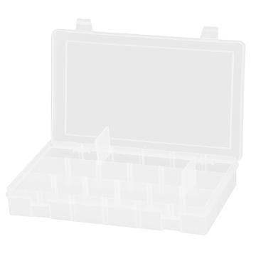 DURHAM MFG 可调格小型塑料盒,2个固定和15个可调隔板,279*171*44mm
