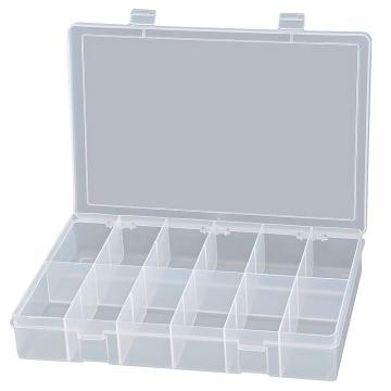 DURHAM MFG 12格透明大塑料盒,333*229*59mm