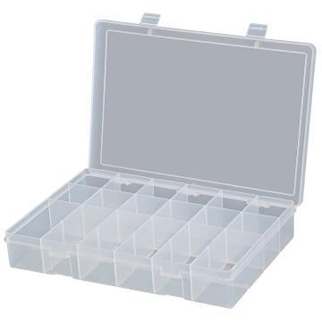 DURHAM MFG 18格透明大塑料盒,333*229*59mm