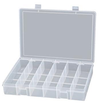 DURHAM MFG 6格透明大塑料盒,333*229*59mm
