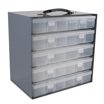 DURHAM MFG 透明塑料盒存储钢架,286*171*273mm,仅为钢架,不带盒子(可装5个小物料盒)