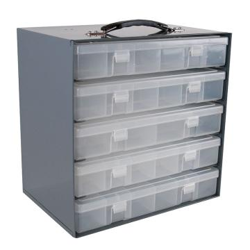 DURHAM MFG 透明塑料盒存储钢架,343*232*337mm,仅为钢架,不带盒子(可装5个大物料盒)