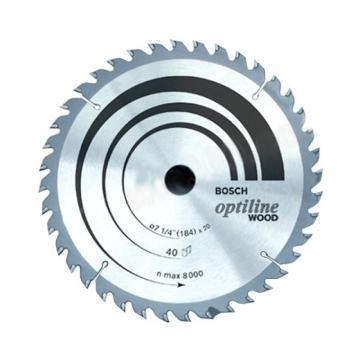 博世圆锯片,110x1.8/1.0x20 T40,针对木材,2608644190