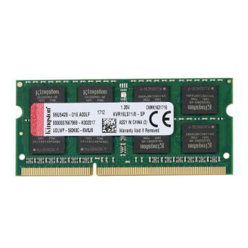 金士顿内存,KVR 低电压版 DDR3 1600 8GB 笔记本内存