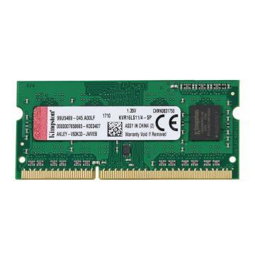 金士顿内存,KVR 低电压版 DDR3 1600 4GB 笔记本内存