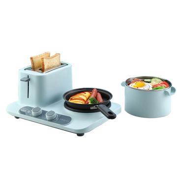 东菱 Donlim 多用途锅,DL-3405(薄荷绿)多功能早餐机多功能锅面包机多士炉料理机