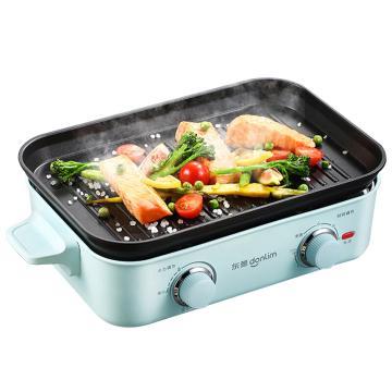 东菱(Donlim)多功能锅料理锅,DL-5701电烧烤锅电火锅蒸锅家用电煮锅 绿色