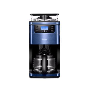 东菱Donlim咖啡机,DL-KF4266W家用全自动现磨壶煮办公商用一体机 宝蓝色